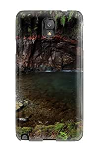 Flexible Tpu Back Case Cover For Galaxy Note 3 - Earth Waterfall