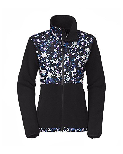North Face Denali Jackets - The North Face Women Denali Jacket, Recycled TNF Black/TNF Black Floral Crystal Print, Large
