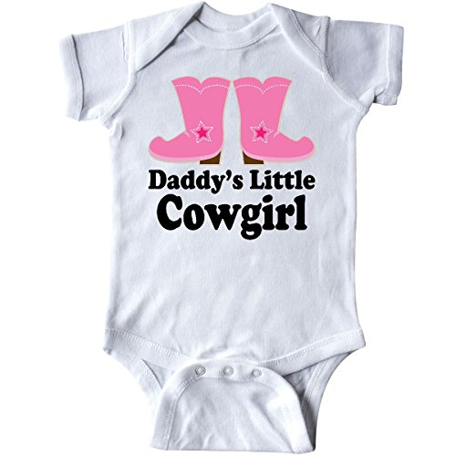 inktastic - Daddy's Little Cowgirl Infant Creeper Newborn White ()