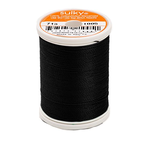 - Sulky Cotton Thread 12 wt 330 yd Black