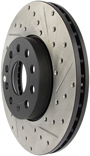 StopTech 127.33110L Sport Drilled/Slotted Brake Rotor (Front and Rear Left), 1 Pack