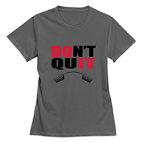 Flycro Slim Fit Women's Dont Quit Funny Sayings T-Shirt