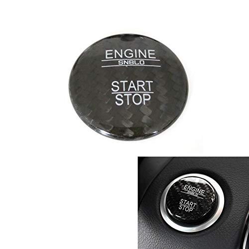 - Carbon Fiber Push Start Stop Button Cover Cap Trim Sticker for Mercedes-Benz ML,GL,R,S,E,C CLASS CL550coupe CLS350sedan GL350/450 GLK350 ML350 S550 SL500 SLK200 2010-2014 & Infiniti QX30 Q30 (Black)