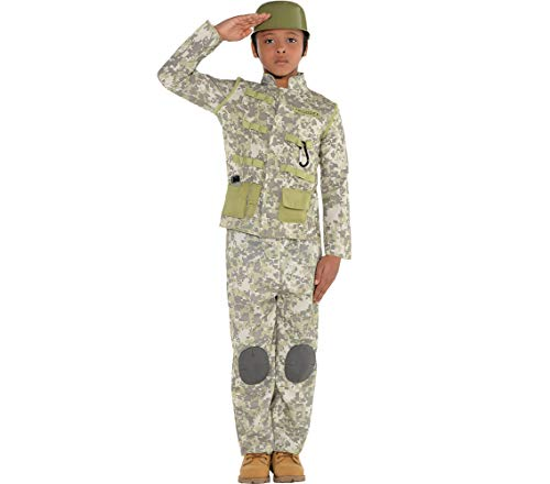 Amscan Combat Soldier Halloween Costume for Boys, Medium,