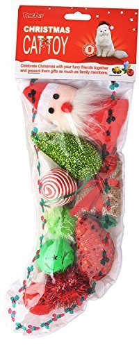 BINGPET Christmas Cat Toys Variety Pack - for Kitty 9 Pieces (Cat Christmas Toys)