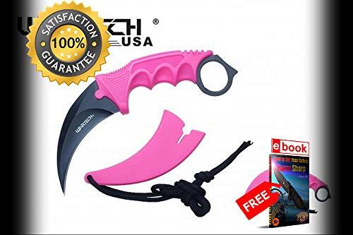 FIXED BLADE Karambit Neck SHARP KNIFE Wartech 2.5''