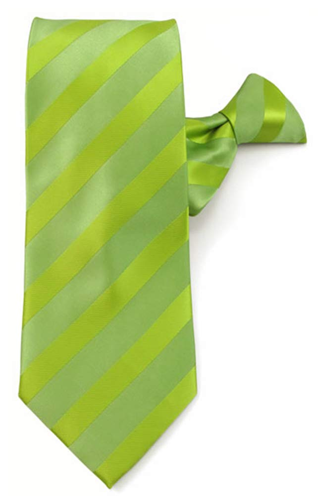 Black Jacob Alexander Boys Prep Solid Color Tonal Stripe Neck Tie