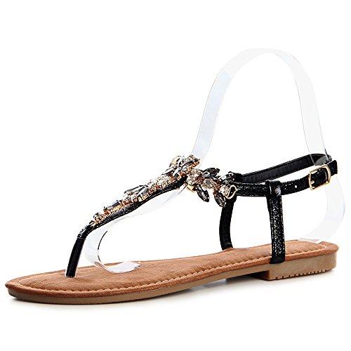 Sandalettes Sandales Noir Sparkle Femmes topschuhe24 AYwqRz8