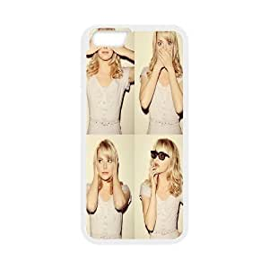 [Emma Stone] Beautiful Emma Stone Case for IPhone 6, IPhone 6 Case Cute Design Cheap Hardshell for Girls {White}
