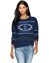 Women's Graphic Crew Neck Lambswool Pullover Sweater