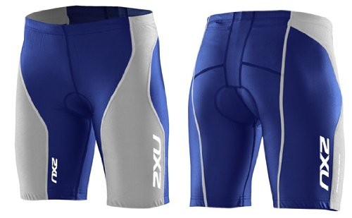 Image of 2XU 2011 Women's Endurance Triathlon Shorts - WT1780b (Royal Blue/Grey - M) Shorts
