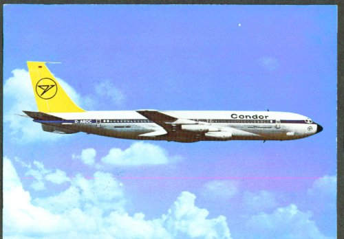 Condor Flugdienst Airlines Boeing 707-430 postcard