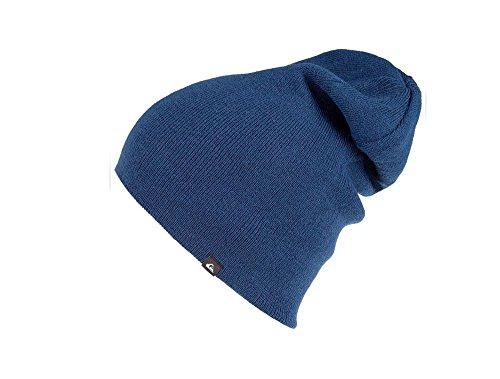 (Quiksilver Men's Revolt Reversible Beanie Hat Cap-Navy/Red)