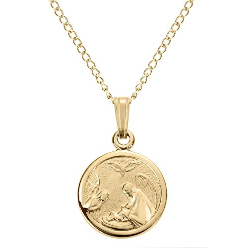 Child Medal Pendant - Child's Guardian Angel Pendant