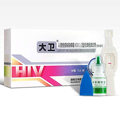 HGFDSA HIV Self Test – Quick Check in Home Test of Blood Test Strip Kit, Human Immunodeficiency Virus Test Kit, Simple…