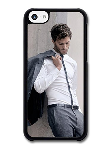 Christian Grey Jamie Dornan Posing in Grey Suit coque pour iPhone 5C