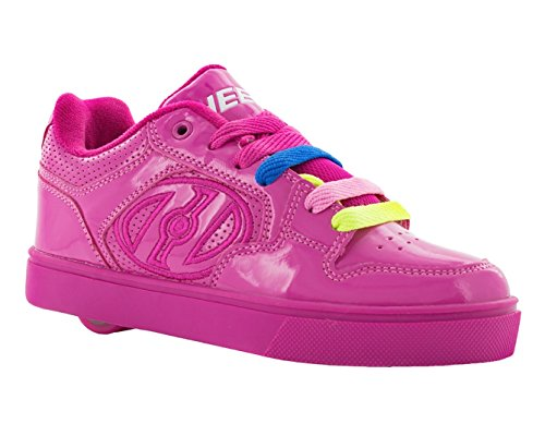 Heelys Girls' Motion Plus Sneaker, Berry/Patent, 4 Medium US Big Kid -
