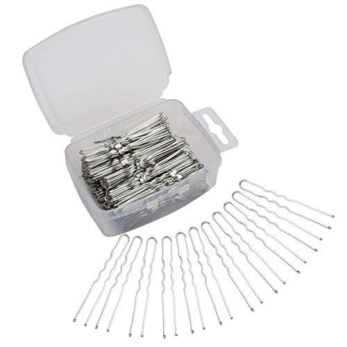 Velscrun 300 Pack U Shaped Hair Pins Bun Hair Pins Metal Bobby Pins Hair Clips for Hair Decoration (Silver)