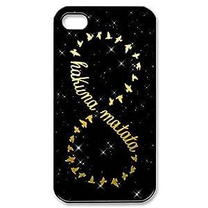 SUUER Custom Hakuna Matata Skin Personalized Custom Hard CASE for iPhone 4 4s Durable Case Cover