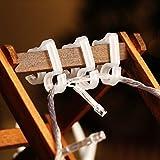 Jovitec Christmas Light Clips Gutter Hang Hooks for Outside String Lights, White (100