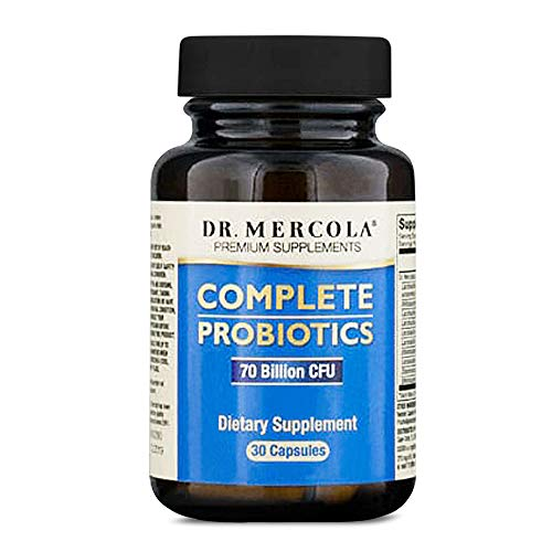 Dr. Mercola Complete Probiotics - 30 Day Supply - Daily Probiotic Supplement - 70 Billion CFU - Acid & Bile Resistant - Promotes Digestive Health and Supports Immune System