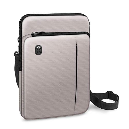 "FINPAC 12.9-13 Inch Tablet Laptop Sleeve Case, Briefcase Shoulder Bag for 12.9"" iPad Pro 2018-2020 / MacBook Air 13 2018-2020 / MacBook Pro 13 2016-2020 / Surface Laptop Go/Surface Pro X/7/6/5-Gray"