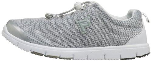 Propet W3239 Póster de zapatillas con de medios de transporte de Walker macuto de senderismo para mujer zapatos de Athletic II plata