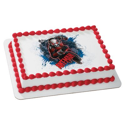 Ant Man Edible Icing Image for 1/4 Sized Sheet Cake by Whimsical Practicality
