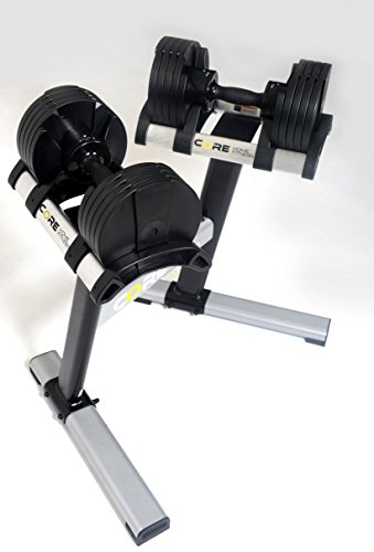Core Home Fitness Adjustable Dumbbell Set & Stand By Space Saver - Dumbbells For Your Home - Weights - by Core Home Fitness (Image #1)