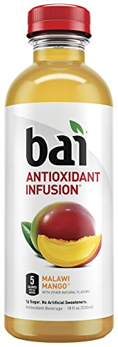 Bai5, 5 calorie Malawi Mango, 100% Natural, Antioxidant Infused Beverage, 18Ounce Bottles