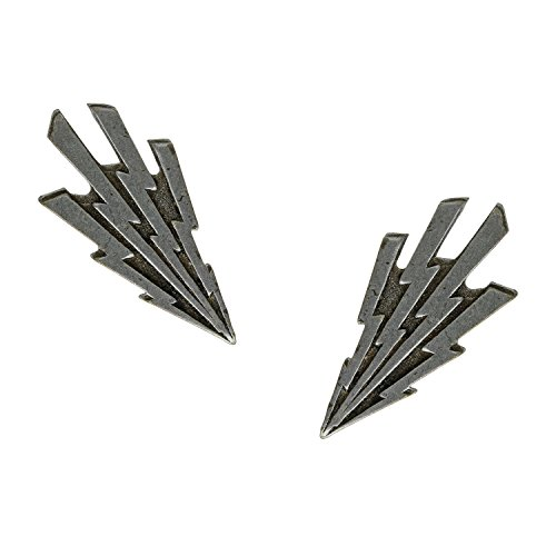 [Alchemy Jewelry Steampunk Industrial Machine Age Remnant Silvertone Lightning Electrical Bolt Post Stud] (Lightning Bolt Costumes)
