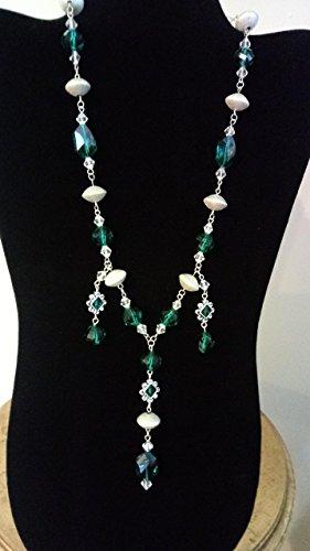 Emerald Green Crystals with Swarovski Crystal Pendants