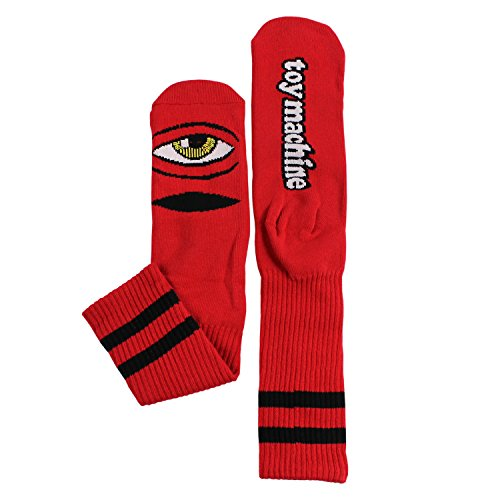 Toy Machine Sect Eye III Socks - Red - Single Pair (Toy Machine Sect Eye Socks)