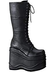 Demonia Pleaser Womens Wave-302 Knee-High Boot