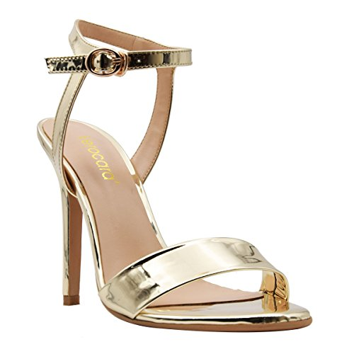 for and High Patent and Back Sandals Party Toe gold Working Dress Heel Verocara Peep Sling B Women's Place ATqvwF