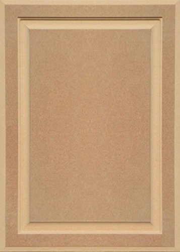 Flat Panel Cabinet Doors (Unfinished MDF Cabinet Door, Square with Raised Panel by Kendor, 28H x 20W)