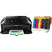 Canon PIXMA MX922 Wireless Inkjet Office All-In-One Printer + PGI-250XL/CLI-251XL Multi Color Ink Cartidge Bundle