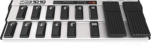 Behringer FCB1010 Ultra-Flexible MIDI Foot Controller with 2 Expression Pedals and MIDI Merge Function,Slvr/Blk