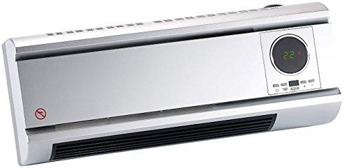 Sichler Haushaltsgeräte Keramik-Wandheizlüfter mit digitalem Thermostat, Fernbedienung, 2000 W