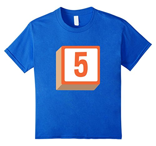 Halloween Costumes Ideas For A Group Of 5 (Kids 5 Five Alphabet Block Halloween Group Costume T-Shirt 12 Royal Blue)