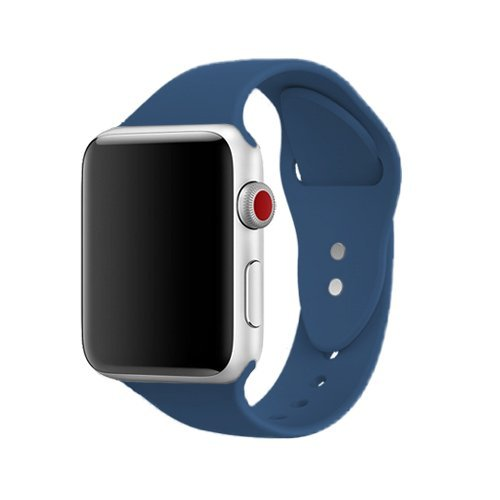 AdMaster Silicone Compatible for Apple Watch Band and Replacement Sport iwatch Accessories Bands Series 3 2 1 Ocean Blue 42mm M/L