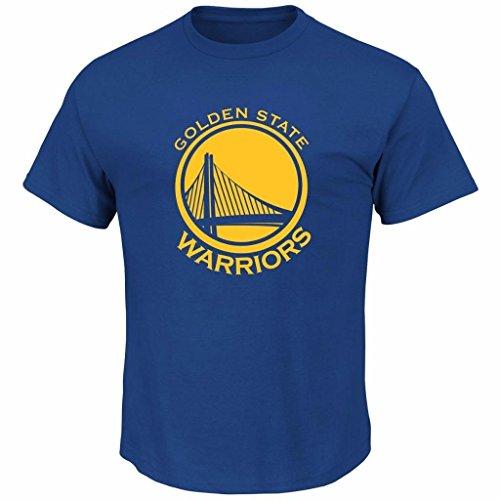 Warriors Nba Team (Majestic Men's Big & Tall NBA Team Primary Logo T-Shirt (2XT, Golden State Warriors))