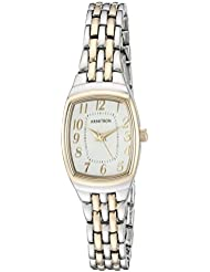 Armitron Womens 75/5375SVTT Easy To Read Two-Tone Bracelet Watch