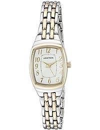 Women's 75/5375SVTT Easy To Read Two-Tone Bracelet Watch