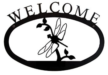 WEL-71-L Dragonfly Welcome Sign Large