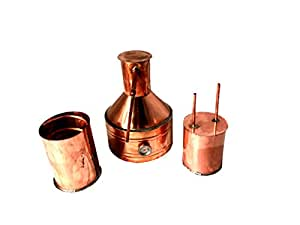 3 Gallon Copper Moonshine Still with Worm and Thumper