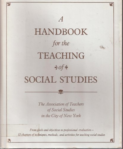 A handbook for the teaching of social studies