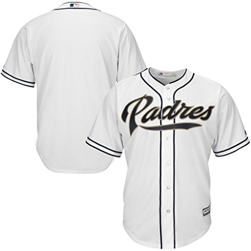 (VF San Diego Padres MLB Majestic Cool Base Replica Mens White Jersey Big & Tall Sizes (2XL))