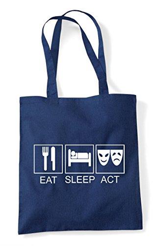 Eat Act Tote Navy Shopper Bag Sleep 6q18P