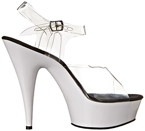 Pleaser, Sandali donna, (Clear/Neon White), 40